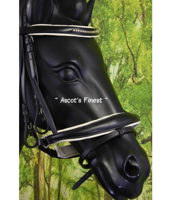 Ascot's Finest Zwart rundleder met zilveren plaatjes - Full