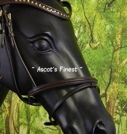 Ascot's Finest Bruin rundleer met lak en strass - Cob