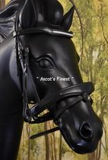 Ascot's Finest Zwart rundleer met brede frontriem - Full
