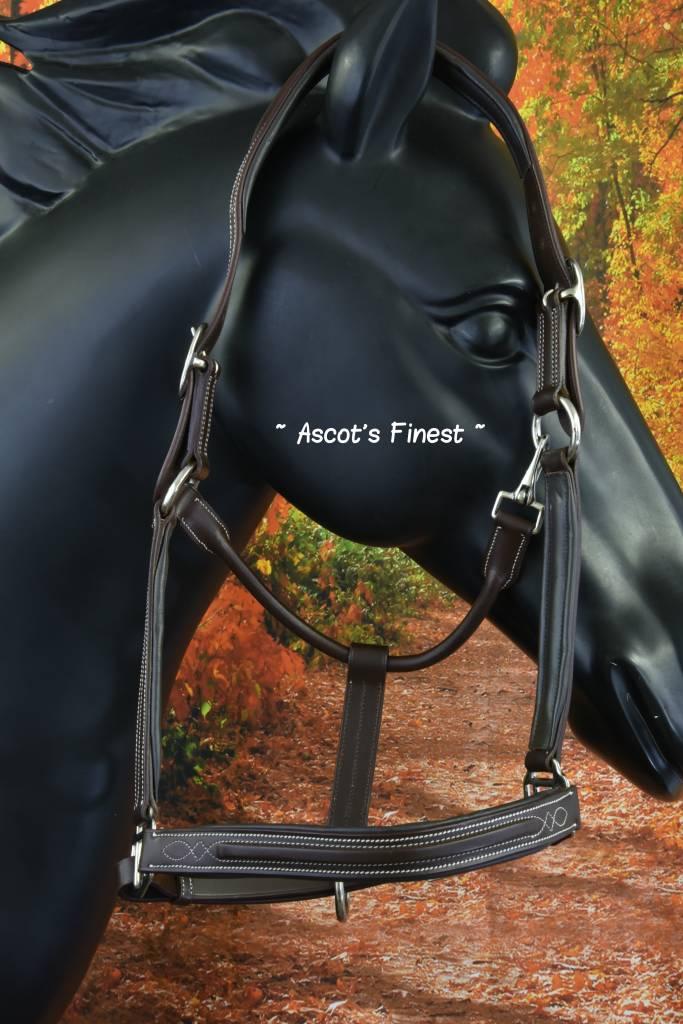 Ascot's Finest Bruin rundleder met wit stiksel - Full