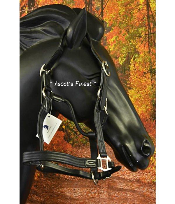 Ascot's Finest Zacht rundleer halster - Full