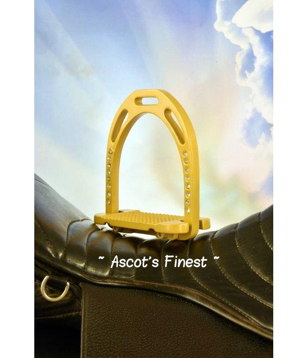 Ascot's Finest Beige/gelige strass stijgbeugels