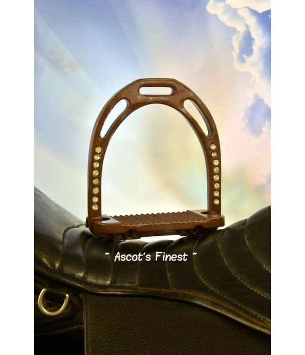 Ascot's Finest Bruine brede stijgbeugels