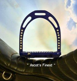 Ascot's Finest Donkerpaars/blauwe brede stijgbeugels