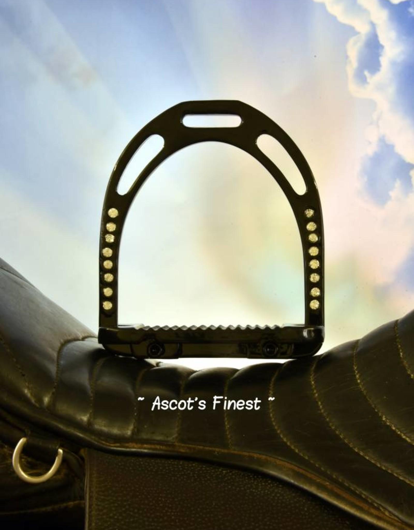 Ascot's Finest Zwarte brede stijgbeugels