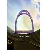 Ascot's Finest Licht paarse strass stijgbeugels
