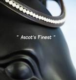 Ascot's Finest Havanna bruine frontriem met witte strass steentjes - 42 cm