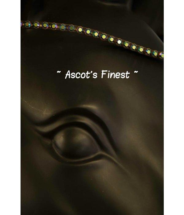 Ascot's Finest Havanna bruine frontriem met olie-laag Swarovski strass - 42 cm  - Full