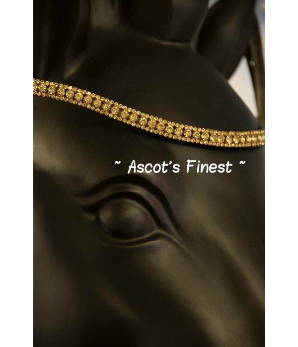 Ascot's Finest Bruin rundleer met goudkleurige strass - 41,5 cm - Full