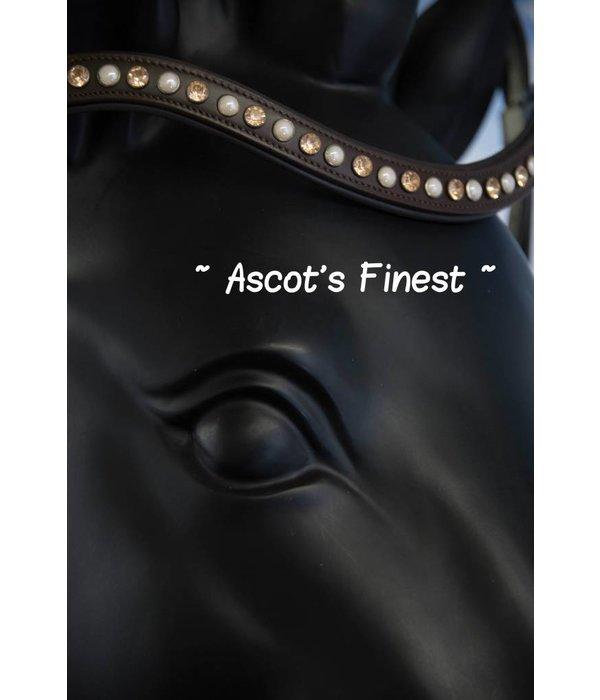 Ascot's Finest Bruin rundleer met Swarovski strass - 40,5 cm - Cob/Full