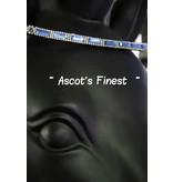 Ascot's Finest Zwart rundleer met licht blauw en witte strass - 39 cm - maat Cob