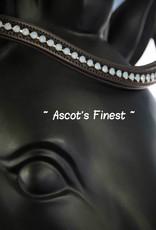 Ascot's Finest Havanna bruin rundleer met lichtblauwe, melkachtige strass - 41,5 cm - Full