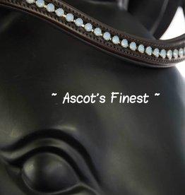 Ascot's Finest Havanna bruin rundleer met lichtblauwe, melkachtige strass - 41,5 cm