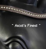 Ascot's Finest Zwart rundleer, bruine laklaag - 39,5 cm