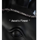 Ascot's Finest Zwart rundleer met wit/paars/zwarte strass - 42 cm -  Full