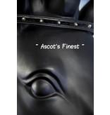 Ascot's Finest Zwart rundleer met zilveren studs  en haartjes - 38 cm - Cob