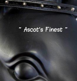 Ascot's Finest Zwart rundleer met zilveren studs  en haartjes - 38 cm