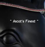 Ascot's Finest Zwart rundleer met zwarte, rode en gele strass - 38 cm  - Cob