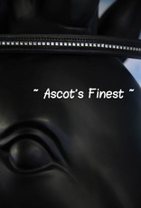 Ascot's Finest Zwart rundleer met spiegeltjes - 41 cm - Full