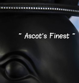 Ascot's Finest Zwart rundleer met spiegeltjes - 41 cm