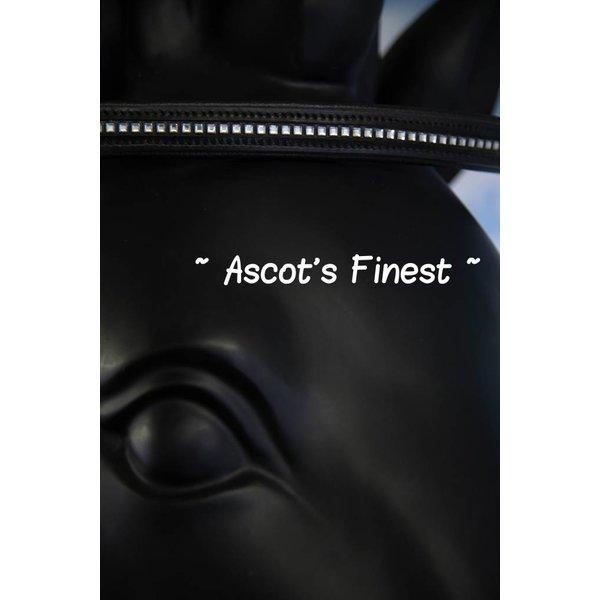 Zwart rundleer met spiegeltjes - 41 cm
