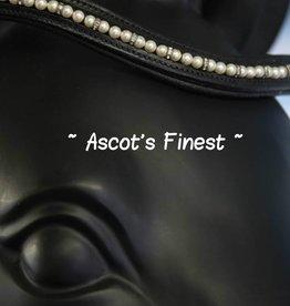 Ascot's Finest Zwart rundleer met parels en strass - 41 cm