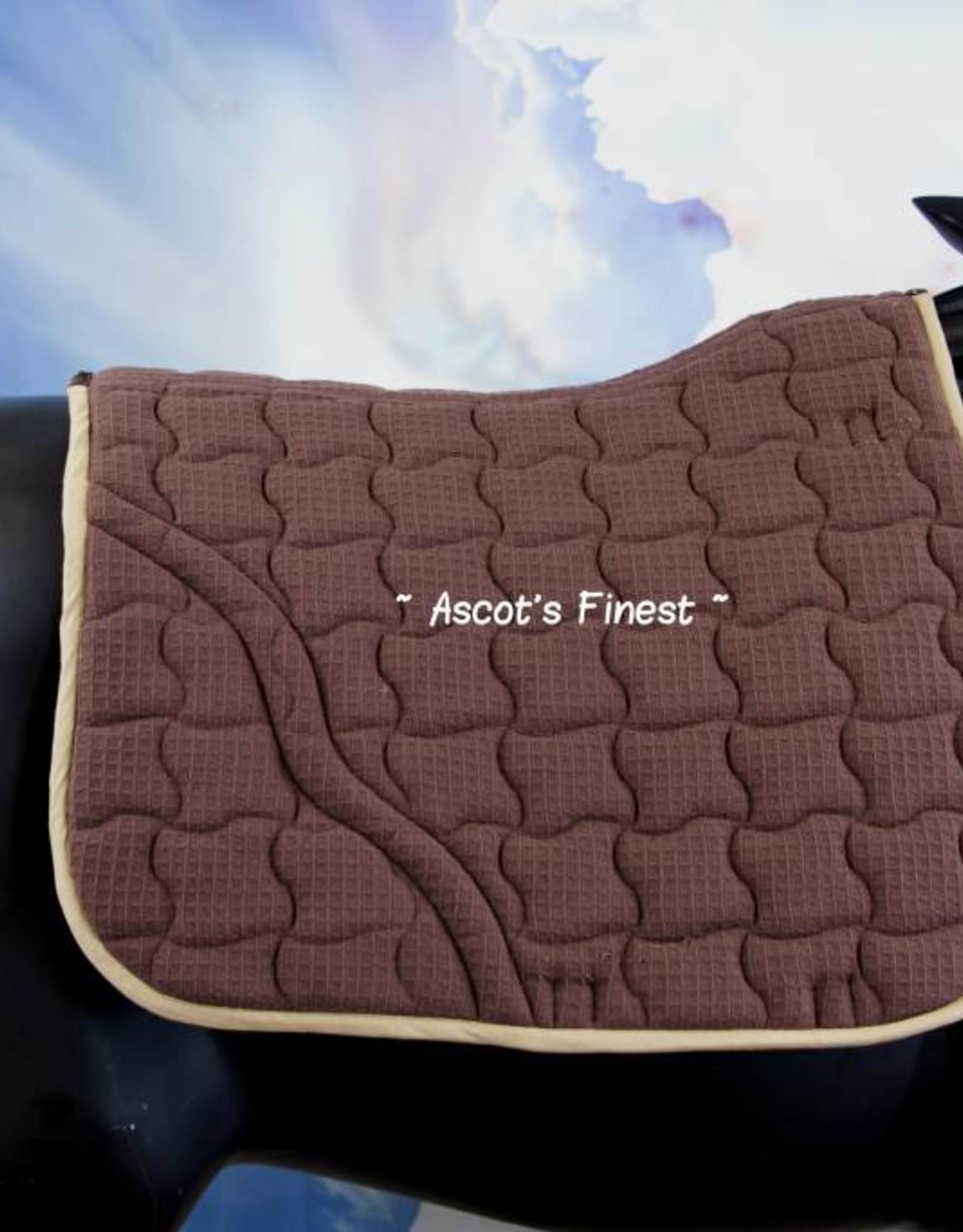Ascot's Finest Bruin dekje met lichtbeige gaas - Full spring