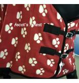 Ascot's Finest Fleecedeken voetjes - rood