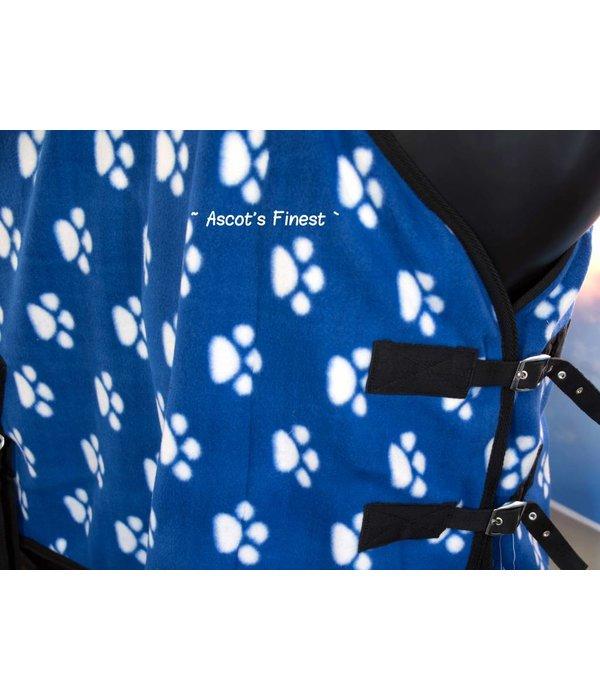 Ascot's Finest Fleecedeken voetjes - blauw