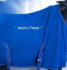 Ascot's Finest Blauwe fleece deken met kroon