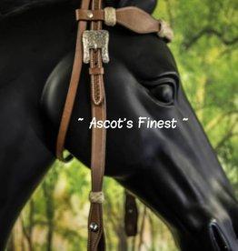 Ascot's Finest Western Hoofdstel - Met rundleer - Maat Full - #028