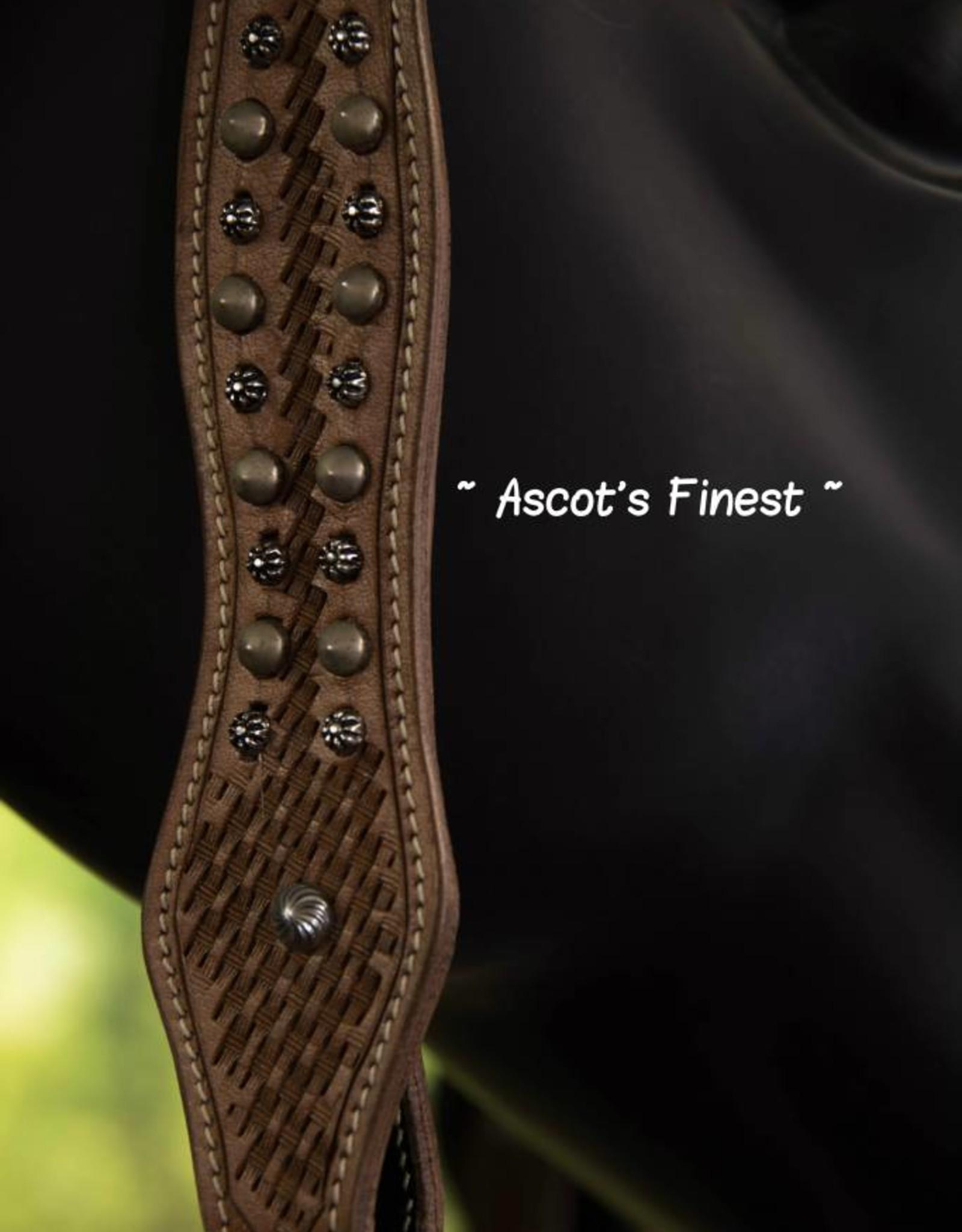 Ascot's Finest Western Hoofdstel met studs - Maat Full - #023