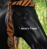 Ascot's Finest Western Hoofdstel - oranje print - Maat Full - #020