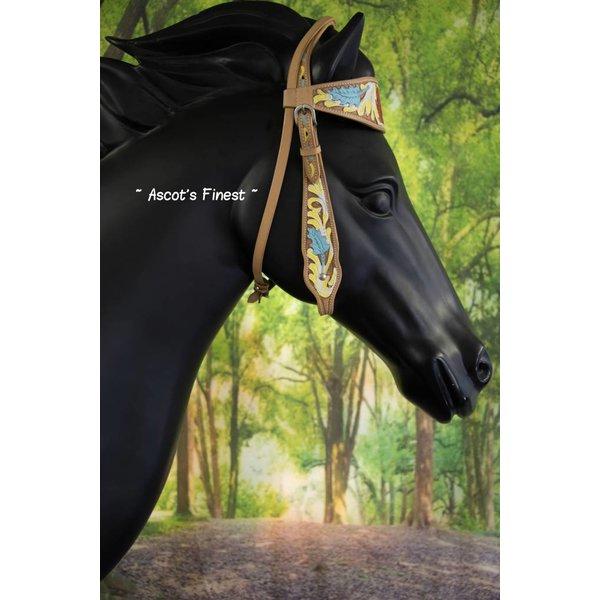 Western Hoofdstel met sierlijke bloem - Full, Cob en Pony