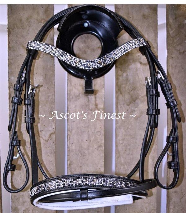 Ascot's Finest Shetlander & Mini-Shet zwart rundlederen hoofdstel