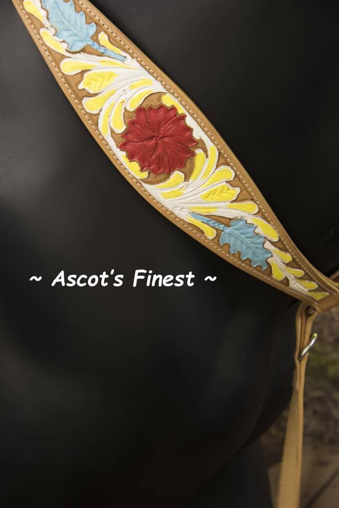 Ascot's Finest Western Breastplate met bloem - Full, Cob en Pony