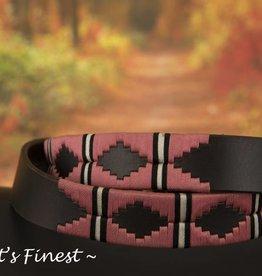 Ascot's Finest Polo riem met roze stiksel – 90 t/m 100 cm