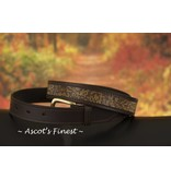 Ascot's Finest Bruin rundlederen riem met gouden strass – 87 t/m 97 cm
