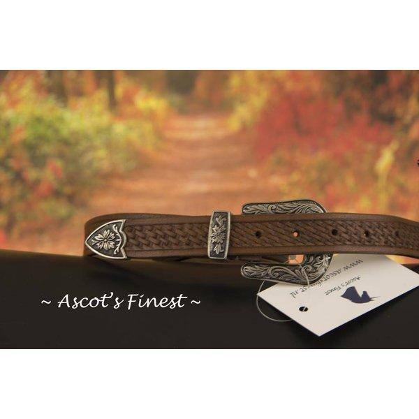 Bruin western-look riem met prachtig metalen versiering – 95 t/m 105 cm