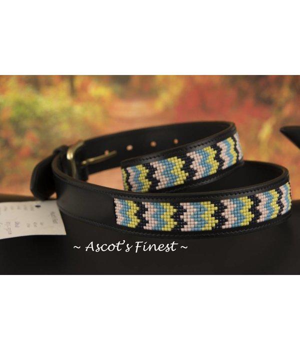 Ascot's Finest Zwart rundleder met kleurige mozaiek – 87 t/m 97 cm