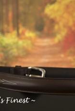 Ascot's Finest Bruin rundlederen riem met sierlijk stiksel – 74 t/m 83 cm