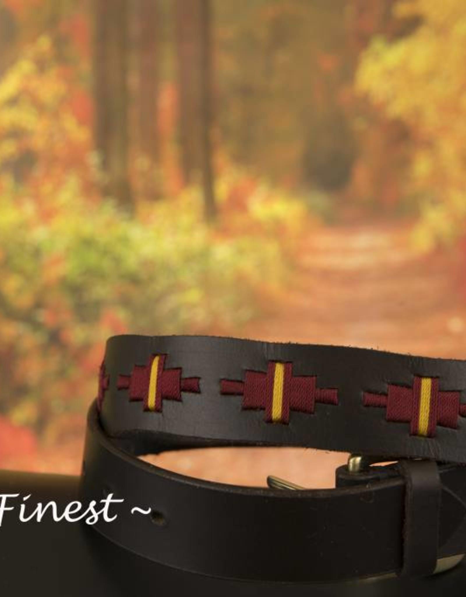 Ascot's Finest Polo riem met rood en geel stiksel – 88 t/m 98 cm