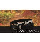 Ascot's Finest Zwart rundleder met zebra print – 77 t/m 87 cm