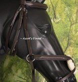 Ascot's Finest Havanna brown figure 8 jumping bridle - Full