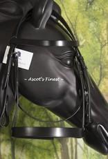 Ascot's Finest Zwart rundlederen hoofdstel - Cob
