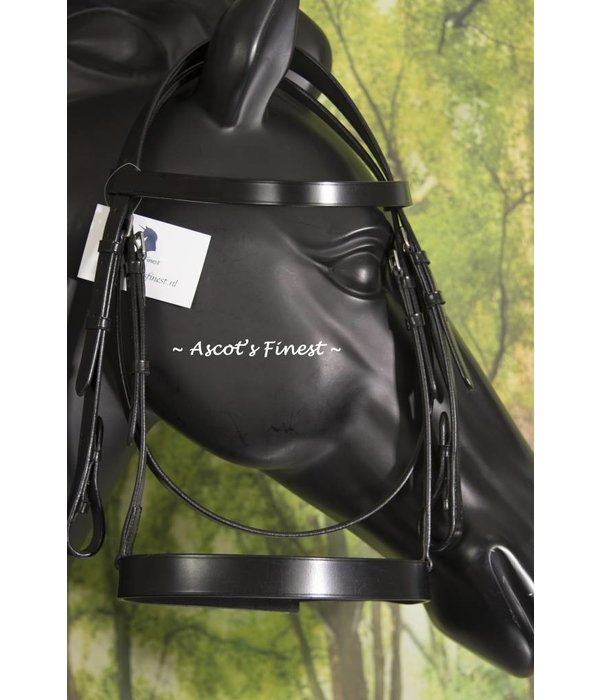 Ascot's Finest Black English leather bridle - Cob