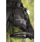 Ascot's Finest Black English bridle with glitter and patent - small Full
