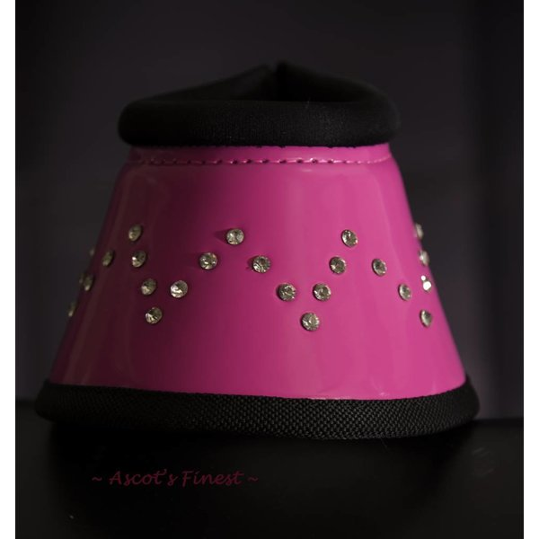 Jumping boots - Pink with rhinestones
