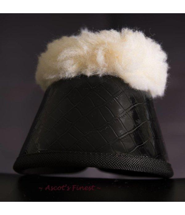 Ascot's Finest Jumping boots - black crocodile - size M - XXL