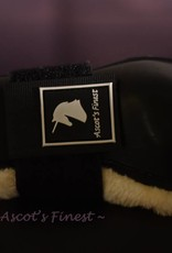 Ascot's Finest Sterke zwarte peesbeschermers met zachte vacht gevoerd – Maat Xfull, Full, Cob en Pony